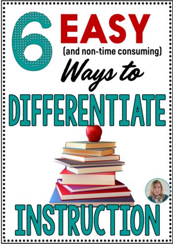 6 Easy Ways To Differentiate Instruction Teaching Ela With Joy Sexton