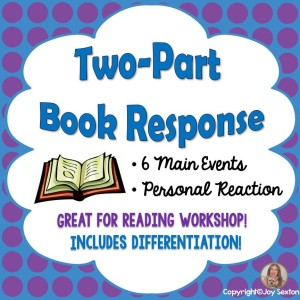 Two-Part Book Response