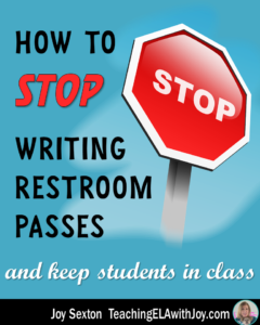 Tired of students leaving your class for restroom breaks? Read about a system that will keep them in class! teachingelawithjoy.com