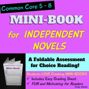 Mini-Book for Independent Novels - Book Report Assignment