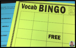 Vocabulary BINGO is great, active review for students! Included in my Vocabulary Word Study Bundle