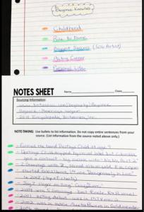 reflective essay rubric middle school